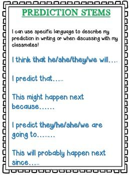 Language At 3 Predicts 3rd Grade >> Reading Skills Making Predictions Ela Making Predictions
