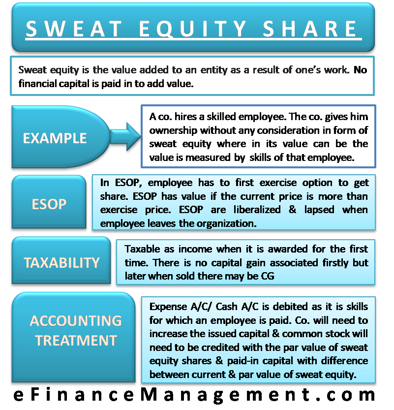 Sweat Equity Share Accounting Finance Money Management Finance