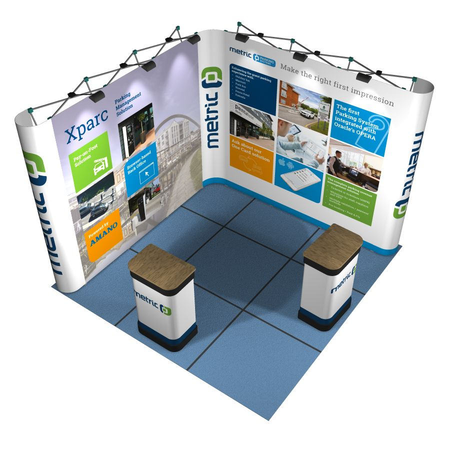 Exhibition Promotion Counter Stand Display w//Case Trade Show Promotion Retail