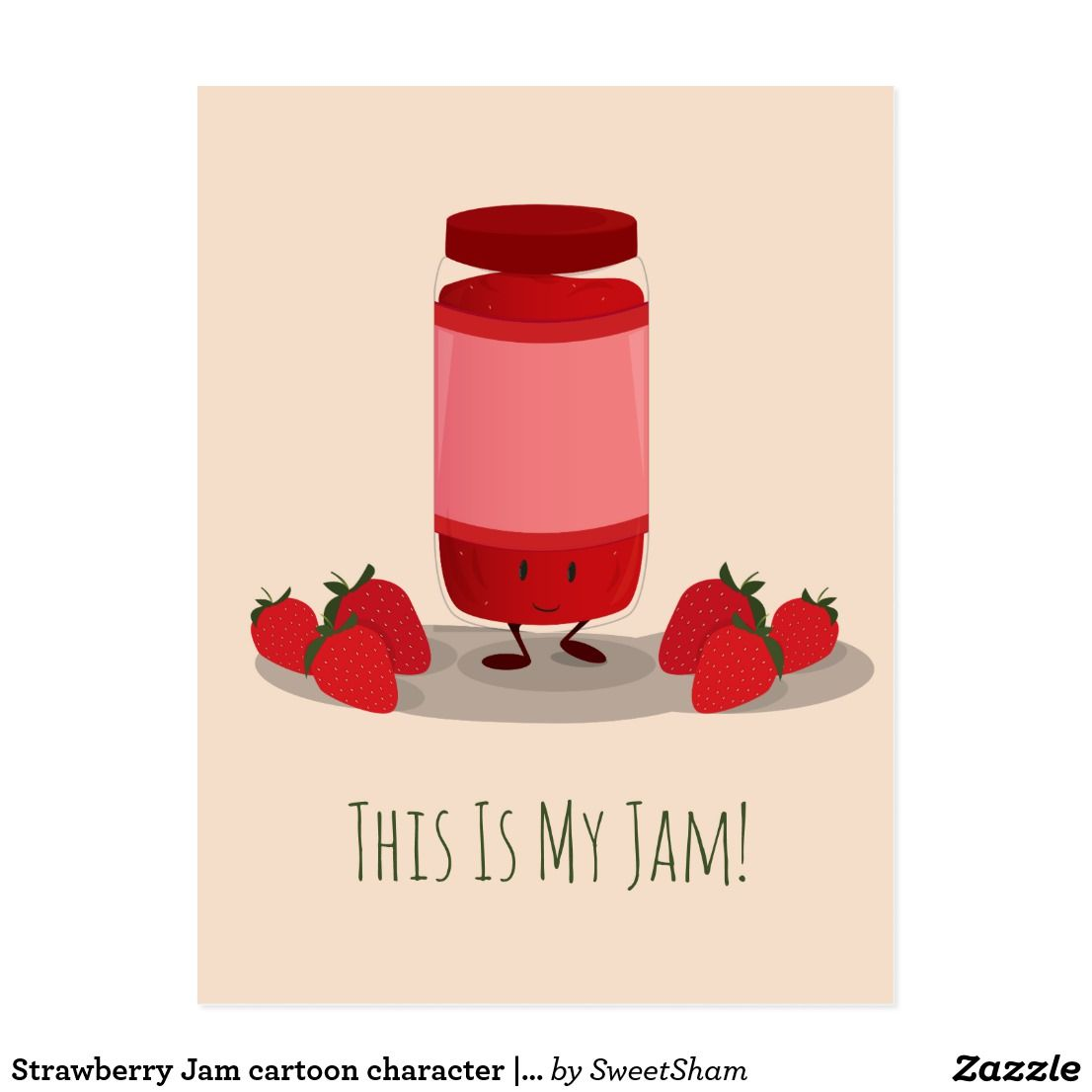 Strawberry Jam Cartoon Character