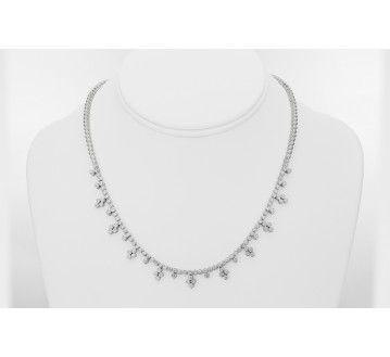 Ladies Diamond Necklace in 18k White Gold (3.00ct. tw.) at sales price $6695