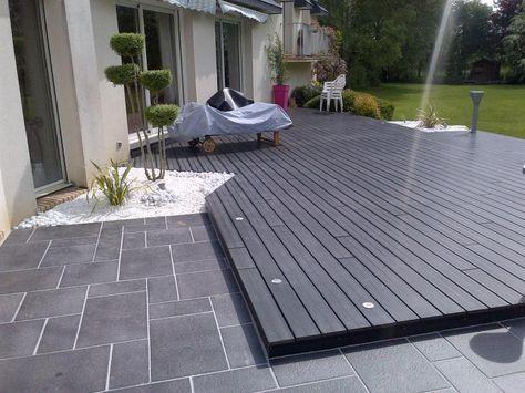 Photo après habillage de terrasse, dallage et composite backyard