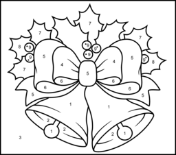 Christmas Bells  Printable Color by Number Page  Free Coloring