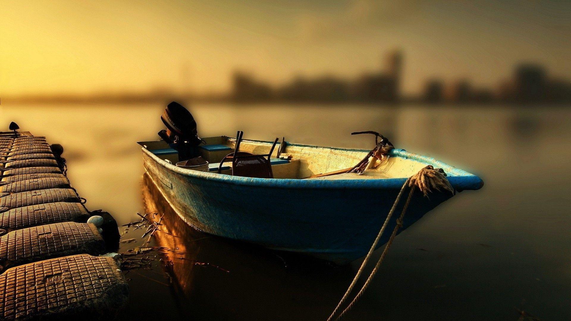 Fishing Boat At Sunset Hdr Hd Desktop Background Wallpaper Free Google Socialismo