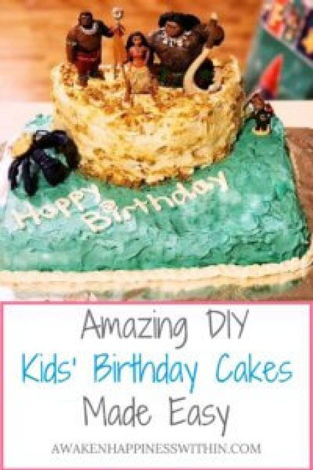 Amazing and Easy DIY Kids Birthday Cakes That Anyone Can Make