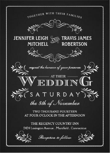 chalkboard wedding invitations - Chalkboard Wedding Invitations