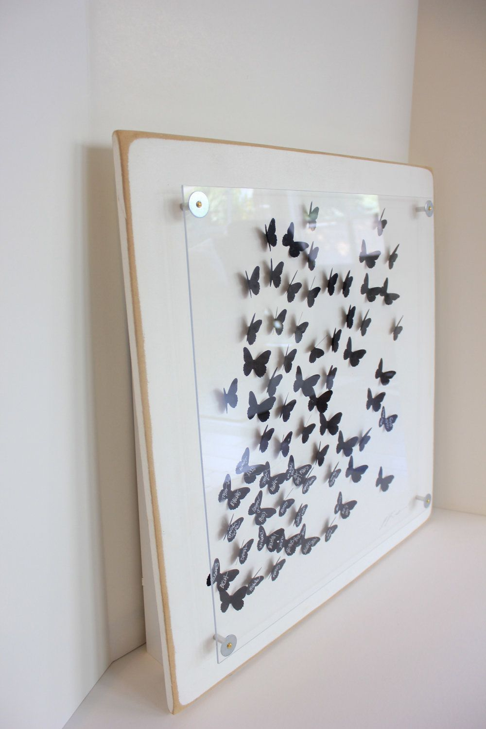 Wedding Guest Book Alternative. 3D butterfly unique guest book ...
