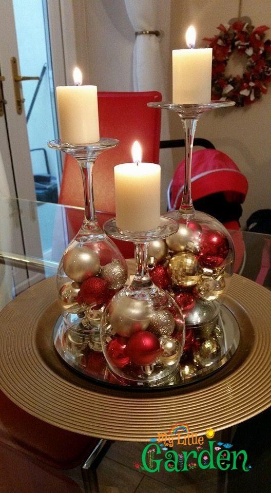 Weinglaeser mit kugeln - Weihnachten - #Kugeln #mit #Weihnachten #Weinglaeser #deconoelmaisonexterieur