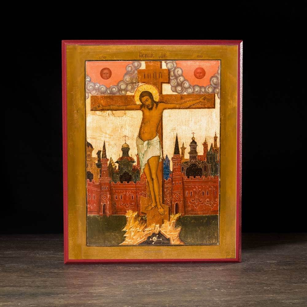 Crucifixion of Christ (XVIIIc) Icon - F209 - Legacy Icons