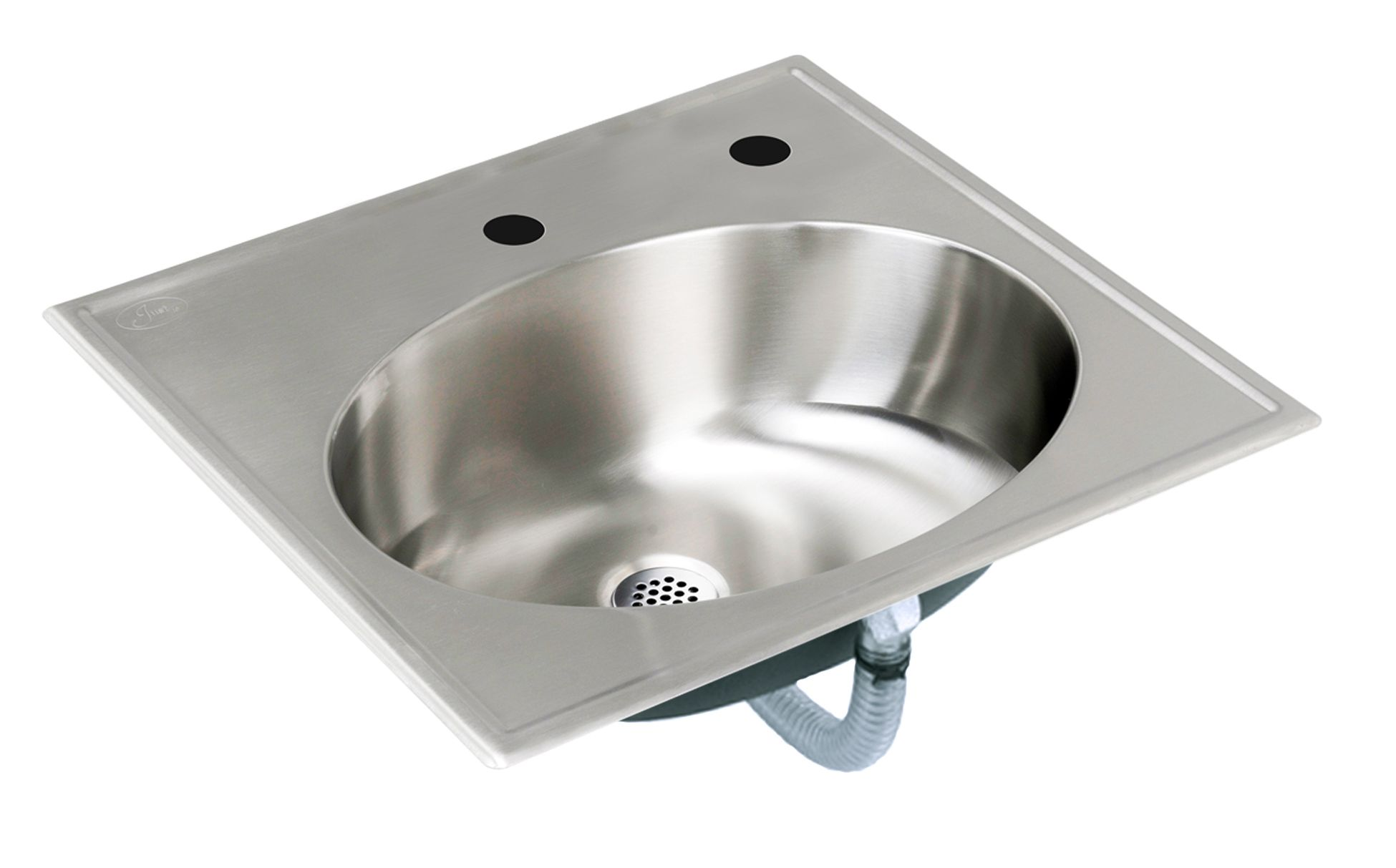 OVAL LAVATORY DROP IN SINK   WITH RECTANGULAR MOUNTING FLANGE   ADA  COMPLIANT   18 GAUGE STAINLESS STEEL