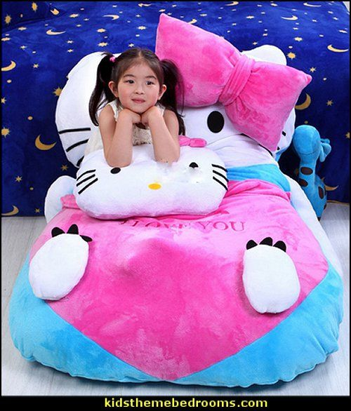 Bedroom Ideas Hello Kitty Soft Bedroom Colors Childrens Turquoise Bedroom Accessories Bedroom Decorating Ideas Gray And Purple: Hello Kitty Beanbag Giant Soft Plush Bed Carpet Sofa