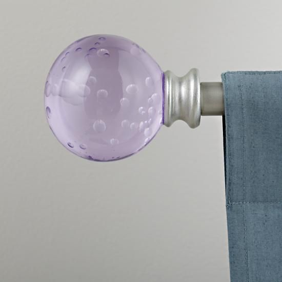 The Land of Nod | Curtain Accessories: Curtain Rod Purple Bubble ...
