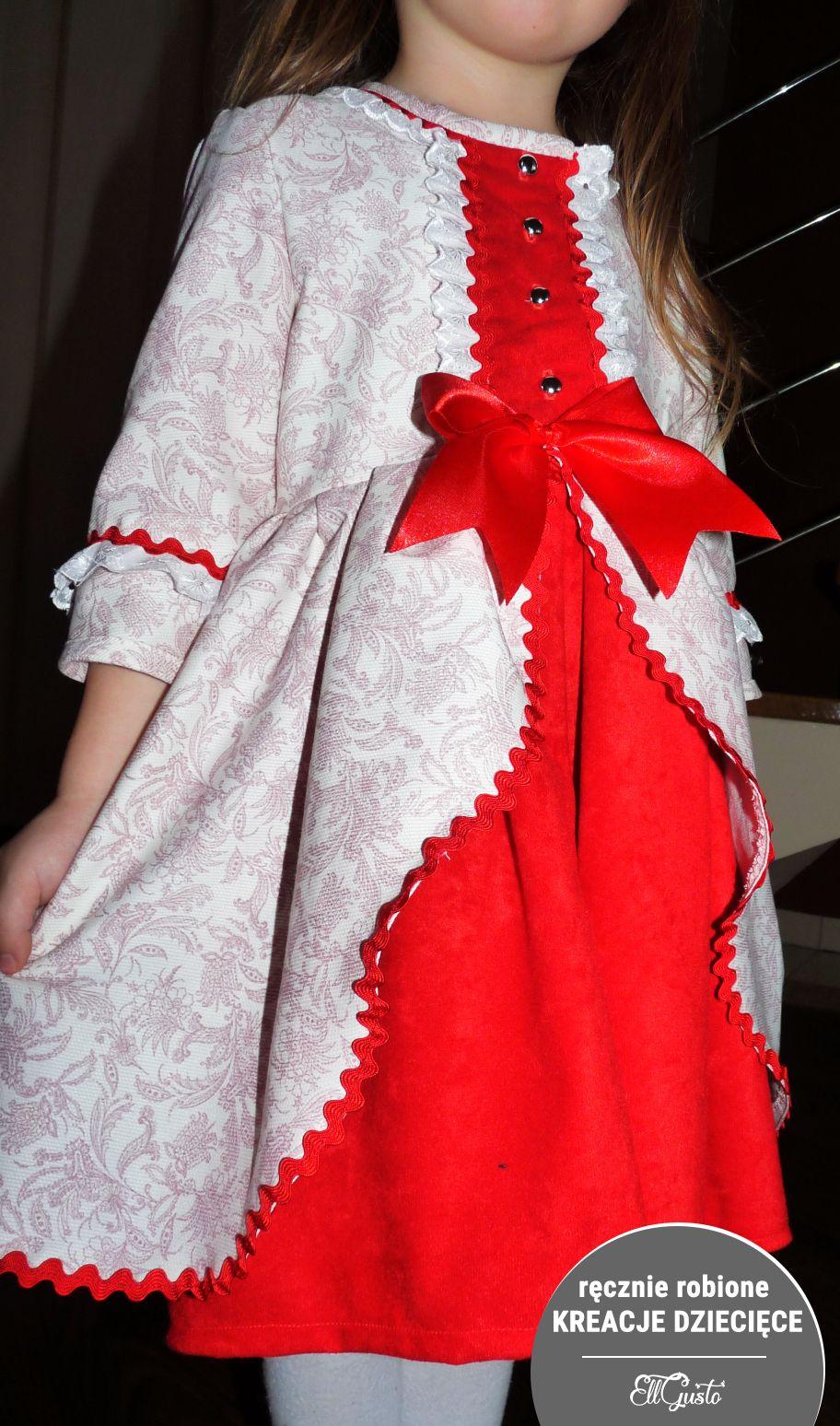 84061dad07 Sukienka dla dziewczynki 5-6 lat. Ręcznie szyta. Pochodzenie materiałów -  Hiszpania.