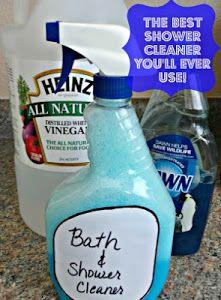 Best Shower Cleaner 1cup Vinegar 1 Cup Dawn Heat Vinegar 1 Min