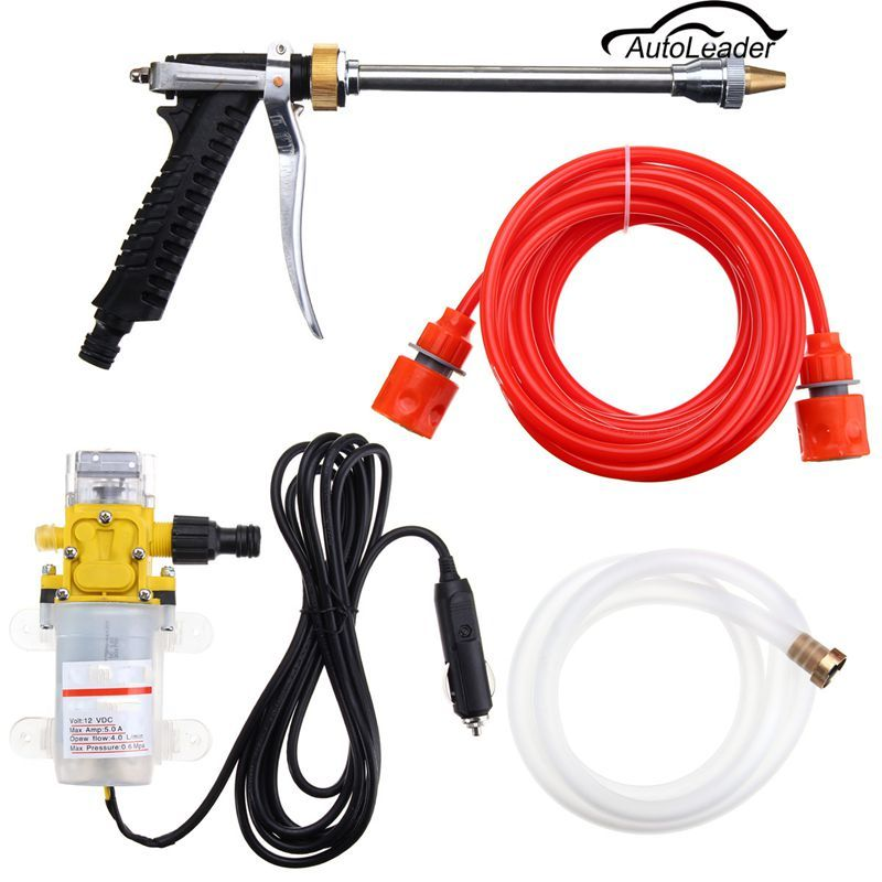 160psi Dc 12v Portable High Pressure Car Electric Washer Wash Pump Set Electric Washer Car Washer Washer Pump