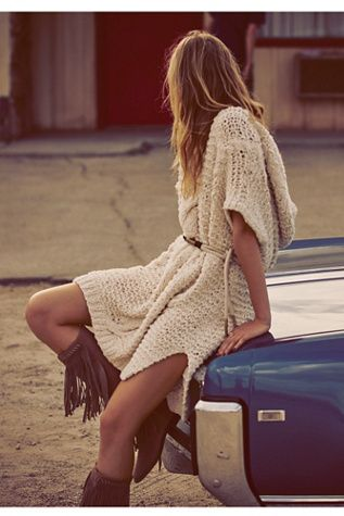 The January Catalog is here! Free People Tulum Nights Cable Tunic at Free People Clothing Boutique