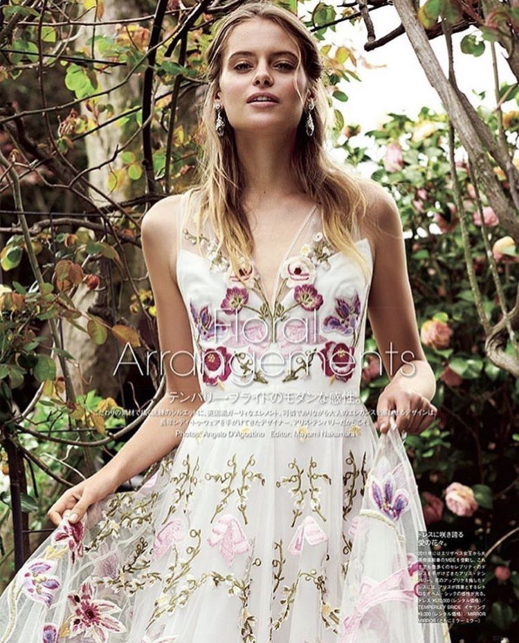 The Bibi Bridal Gown featured in Vogue Wedding   dresses   Pinterest ...