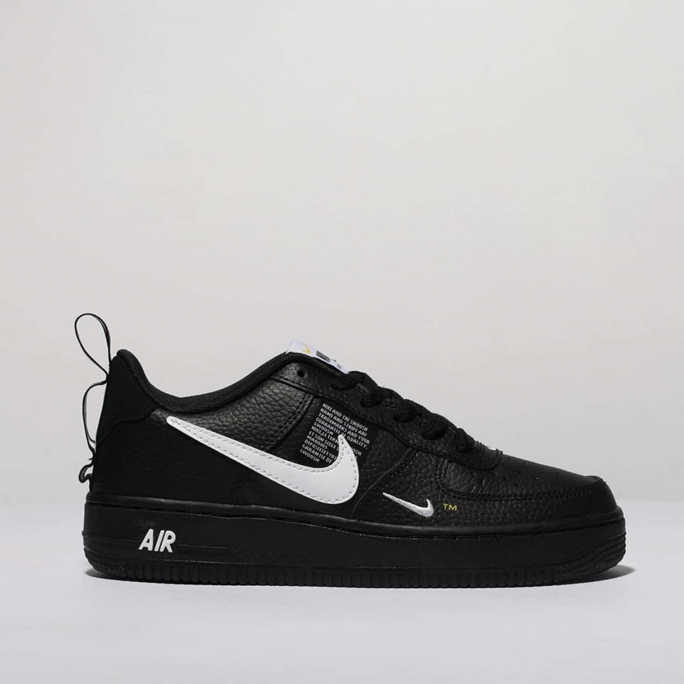 quality design ee097 813fa Kids Unisex black  white nike air force 1 lv8 utility trainers  schuh