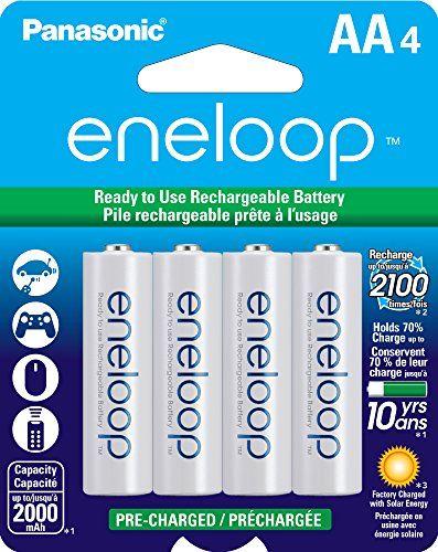 Panasonic Bk 3mcca4ba Eneloop Aa 2100 Cycle Ni Mh Pre Charged Rechargeable Batteries Pack 4 Rechargeable Batteries Panasonic Nimh Battery
