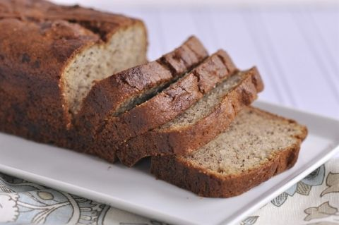 Gluten Free Banana Bread...substitute sugar for 1/2 the amount of honey...substitute xanthan gum for chia seeds...added3 scoops sunwarrior vianillaprotein