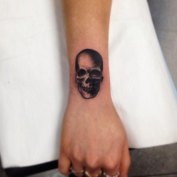 Skull Tattoo On Wrist By Pari Corbitt Art Pinterest Tattoos