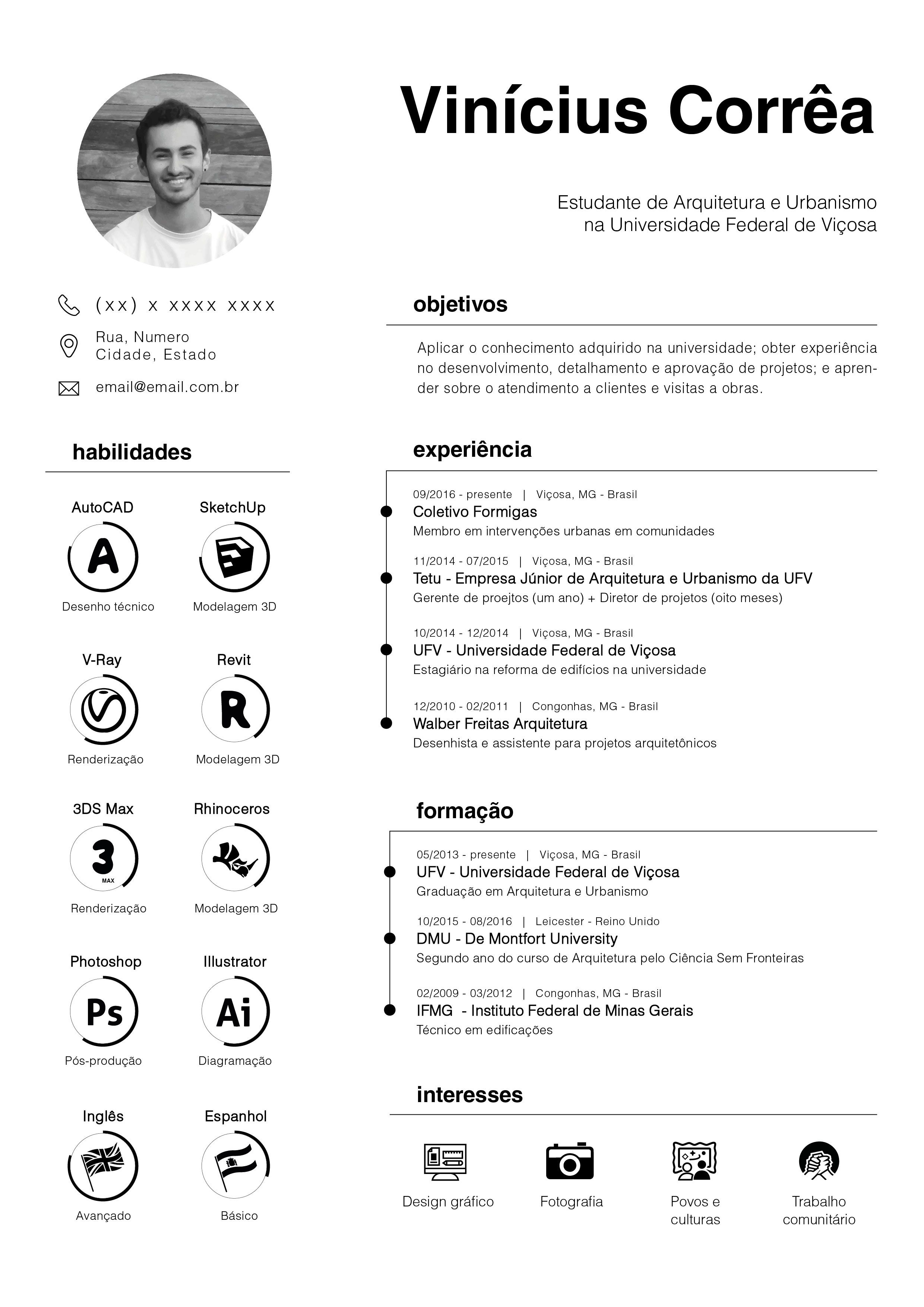 Resume curriculum vitae architecture urbanism proyectos for Cv template for architects