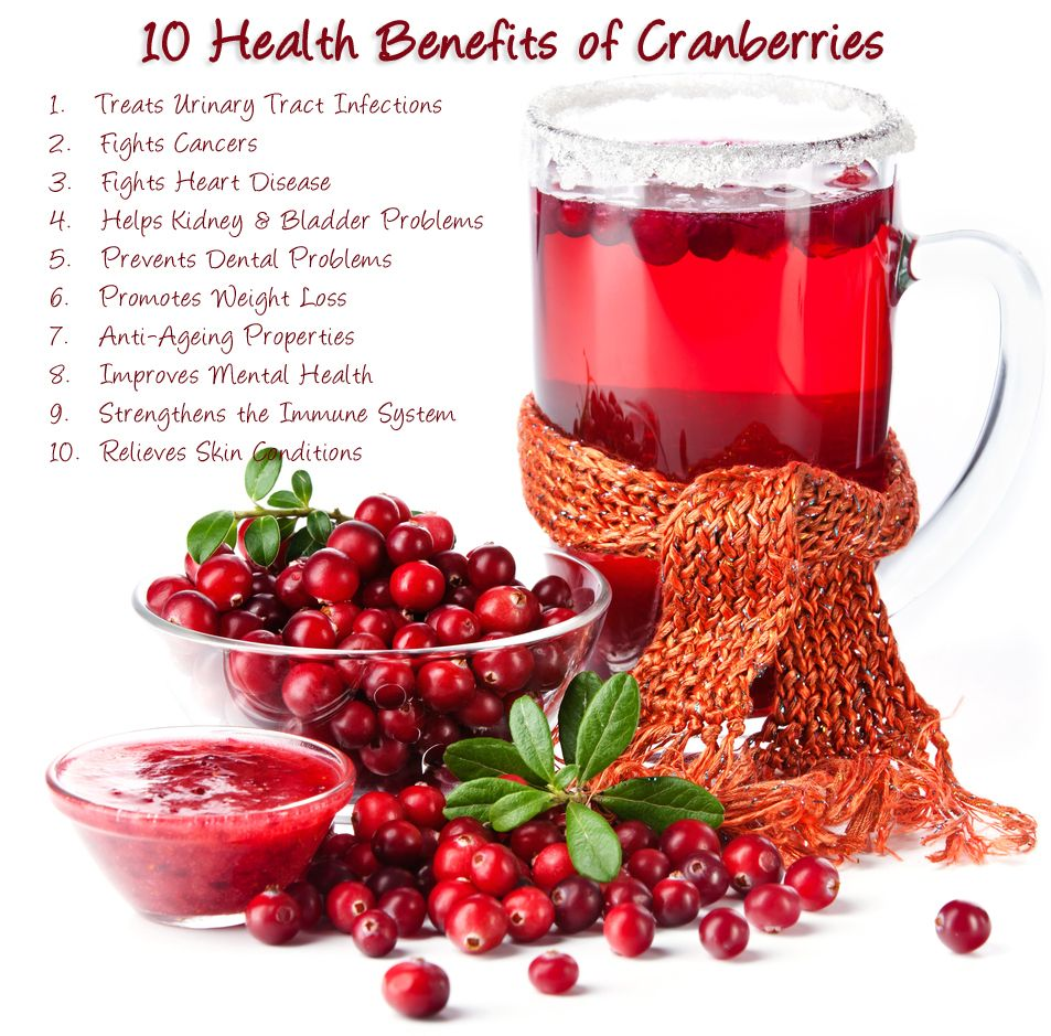 10 health benefits of cranberries - http://www.3fatchicks