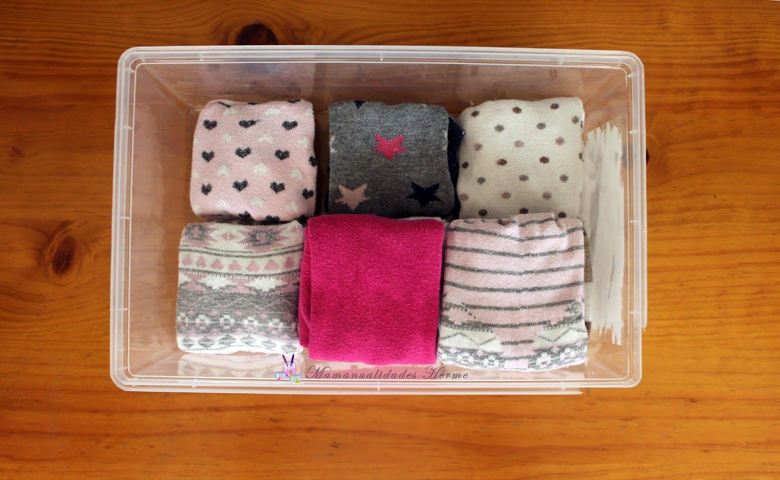 Cómo Doblar Calcetines Para Que Ocupen Menos Muy Facil Manualidades Organización De Ropa Calcetines