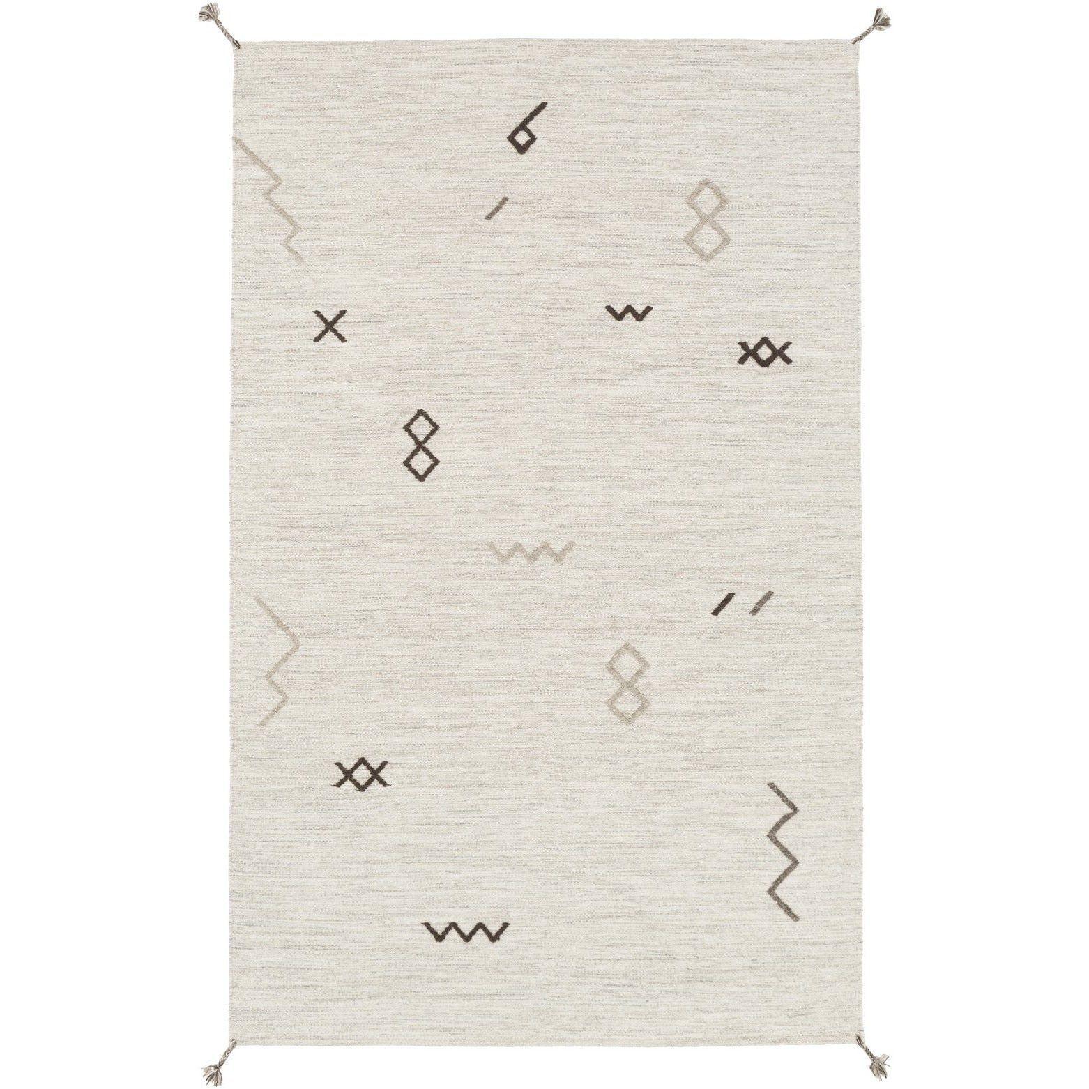 Hand-Woven Macy Wool Rug (3'3 x 5'3) (Light Grey), Beige, Size 3' x 5'