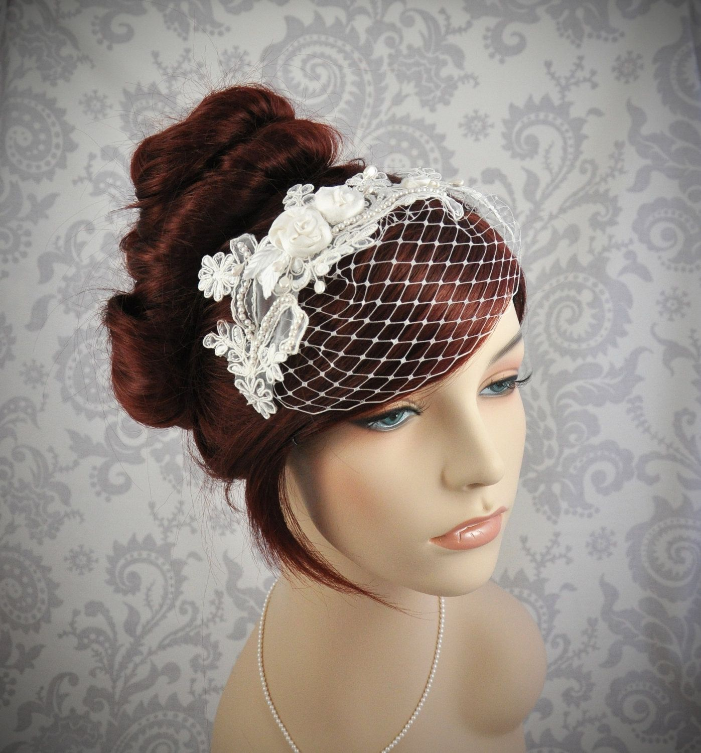 Wedding Hairstyles With Headband And Veil: Detachable, Headband Veil With French