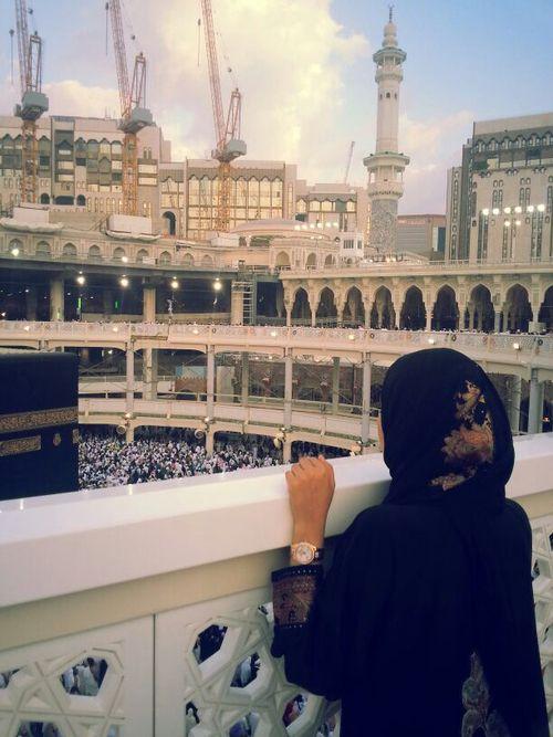 فتاة محجبة الكعبة المشرفة ٤ السعودية Muslim Images Islam Islamic Girl