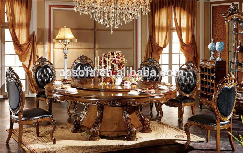 Muebles cl sicos de madera de lujo comedor juego de - Sofas clasicos ...
