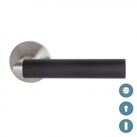 Poignée de porte LINK noir - inox HALLS   COULOIRS Pinterest