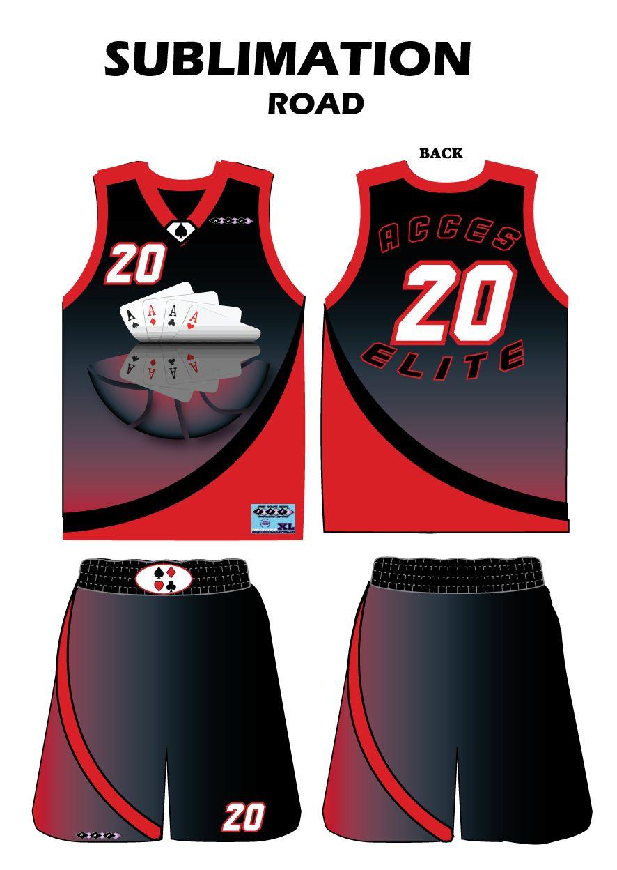 16642002bb78 Sublimated Road Uniform Lifetime Basketball Hoop