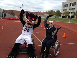 Fraternity's Fundraiser Supports UC Students With Disabilities.  Funds raised at UC's Ability Olympics will help purchase a wheelchair or other mobility device for a UC student who's pursuing a higher education. More student-organized fundraisers are in the works.