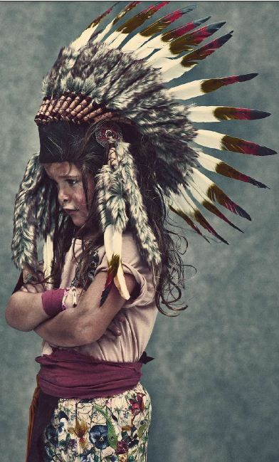 kid with #feathers