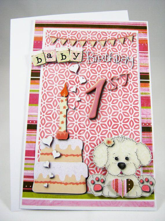 Baby 1st Birthday Happy Birthday Card Birthday Celebration