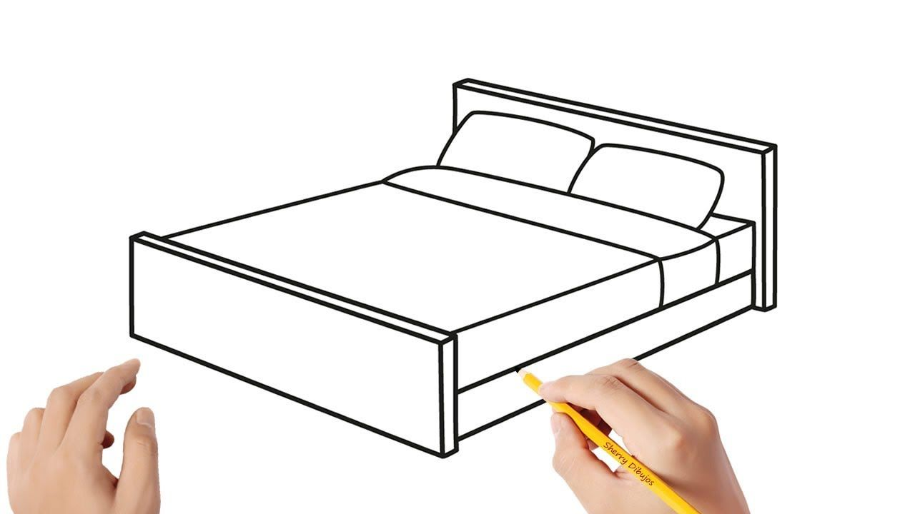 Como Dibujar Una Cama Paso A Paso Dibujos Para Ninos Como Dibujar Una Cama Cama Para Dibujar Dibujo De Lineas Continuas