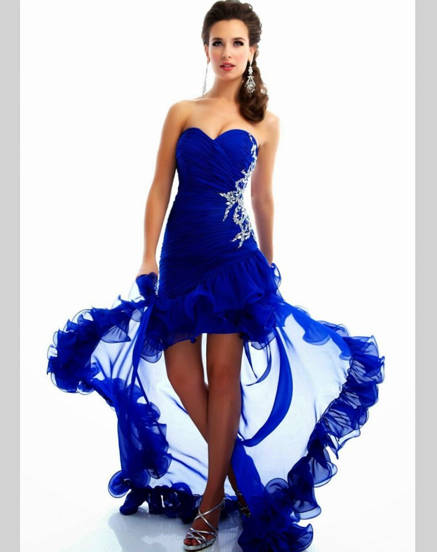 Click to buy ucuc sexy pageant gown sweetheart beaded high low