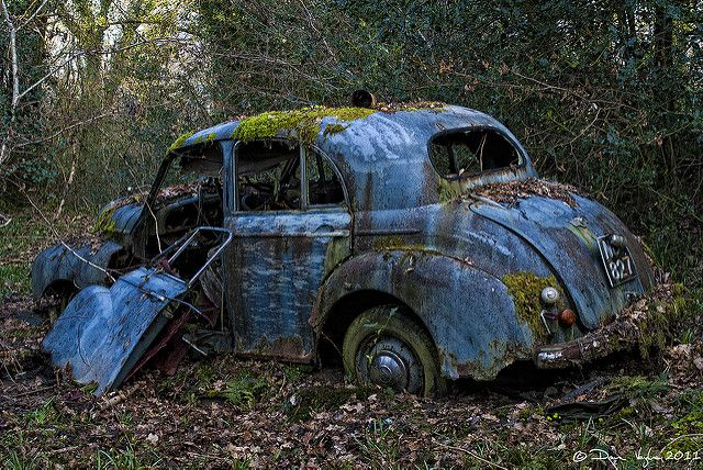Abandoned Old Blue Car Abandoned Cars Abandoned Rusty Cars