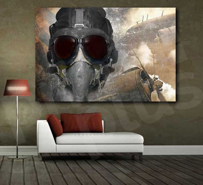 Pilot Aircraft Plane Propeller Army Air Force Art Canvas Poster Rhpinterest: Army Home Decor At Home Improvement Advice