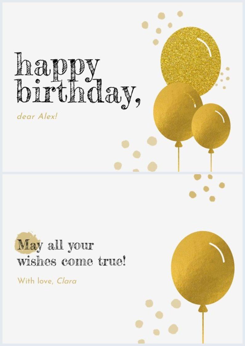 Simple Birthday Card Template Birthday Card Template Free Birthday Cards Birthday Card Template