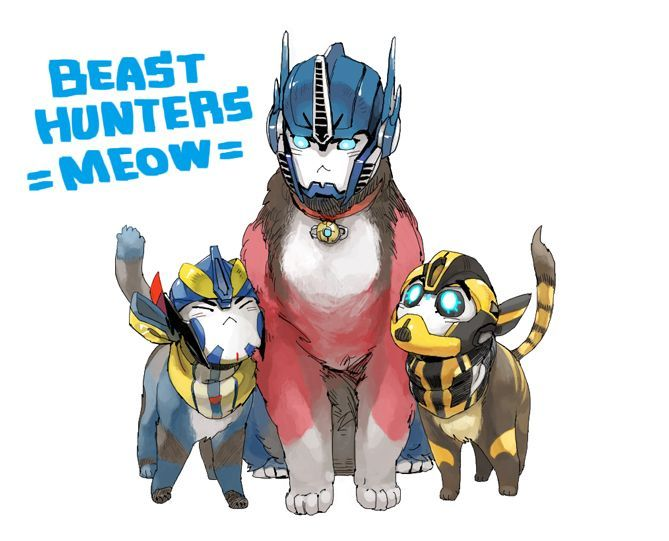 Image result for transformers as cats SO KAWAII
