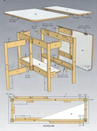 1016 Drop Leaf Table Plans Furniture Plans Drop Leaf Table