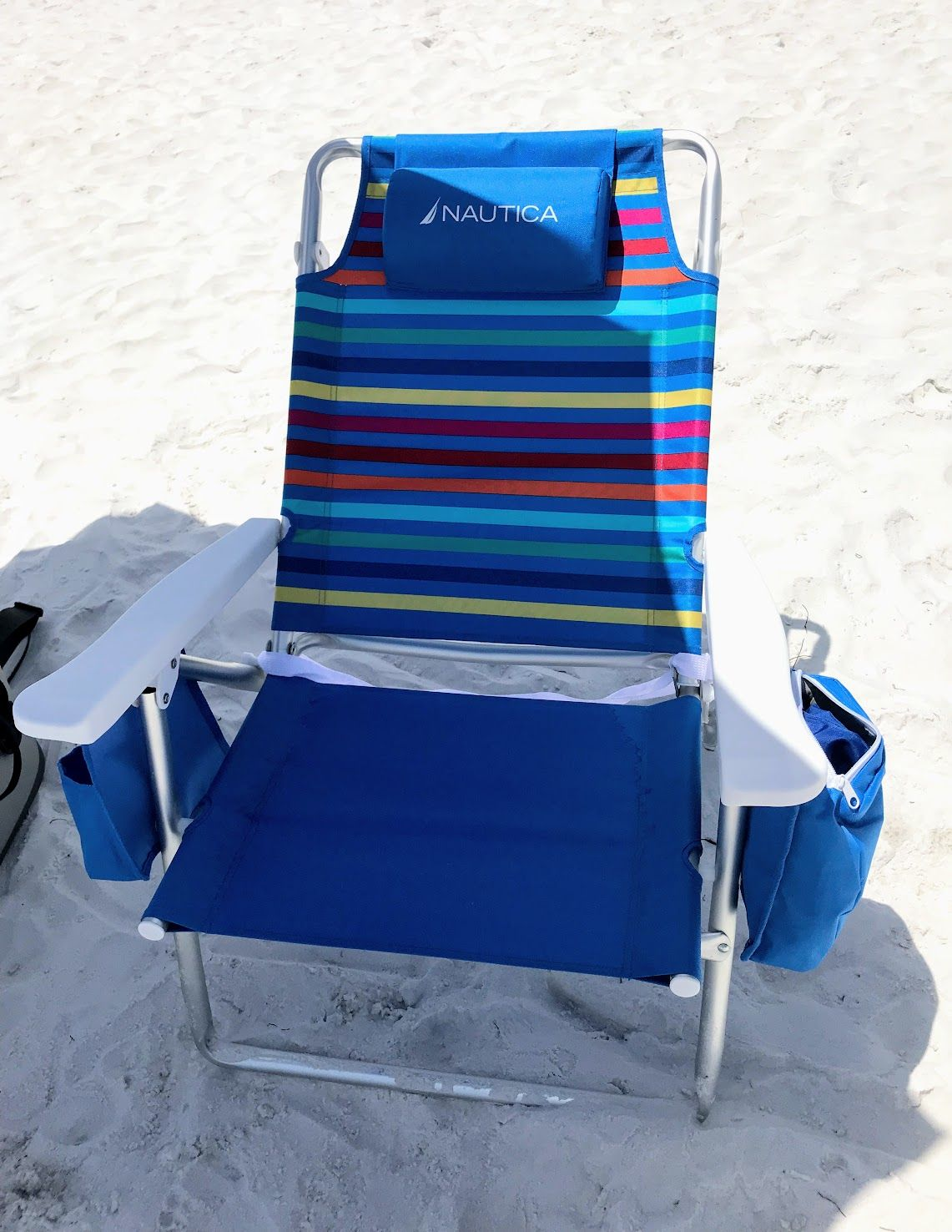Folding Beach Chair with a Cooler Bag, Backpack Straps