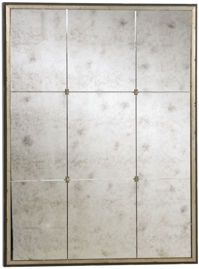 Antiqued Mirror Tiles With Rosettes Roselawnlutheran