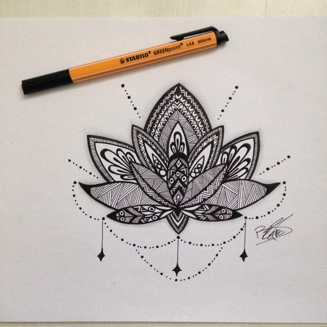 dessin mandala fleur de lotus dessins pinterest. Black Bedroom Furniture Sets. Home Design Ideas