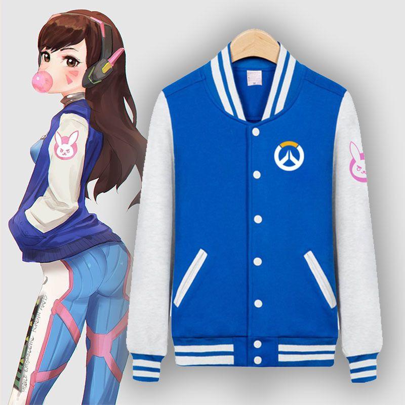 Cosplay costumes Sweat à capuche Overwatch DVA D Va Veste à capuche Manteau Pull Pullover