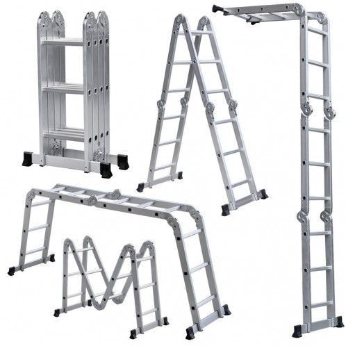 12 Lightweight Multi Purpose Aluminum Folding Ladder Dailysale Multi Purpose Ladder Aluminium Ladder Folding Ladder