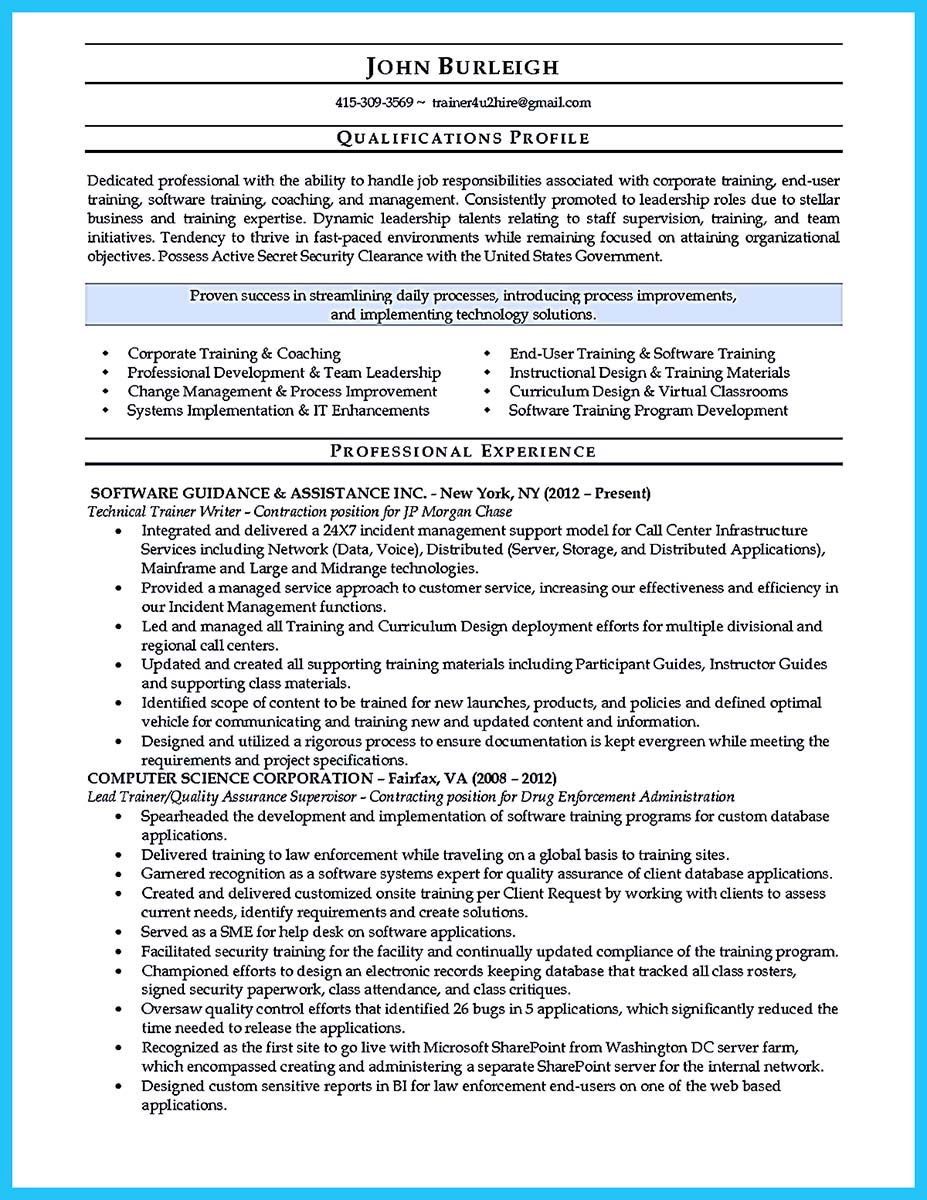 Cool Brilliant Corporate Trainer Resume Samples To Get Job Check More At Http Snefci Org Brilliant Corporate Trainer Resume Samples Get Job